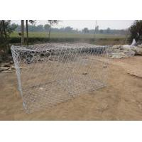 Best Dam Protecting Gabion Wire Mesh Basket 350-550N / MM2 Tensile Strength wholesale