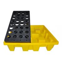 Cheap Oil Tank Storage HDPE Spill Containment yellow Pallets, Spill Pallet for 220L 4 for sale