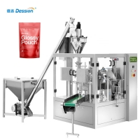 China PLC Control Zipper Bag ROSH Automatic Powder Packing Machine on sale