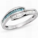 Best Diamond & bule topaz ring wholesale