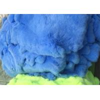 Cheap Dyed Fluffy Rex Rabbit Fur Skins Heavy Density 30*40cm With Customized Logo for sale
