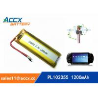 Best 102055 3.7v lithium polymer battery with 1200mAh battery for bluetooth karaoke microphone, game machine wholesale
