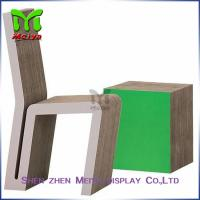 Cheap Full Color Printing Recycled Cardboard Furniture , Foldable cardboard chair for sale