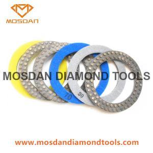 Best 7'' flexible Velcro Double Row Metal Dots Polishing Pads for Concrete wholesale