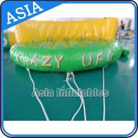 Quality 5 Person Water Ski Tube Inflatable Boats Crazy UFO Shaped 0.9mm PVC Tarpaulin wholesale