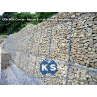 Best Durable Gabion Retaining Wall 3.0 - 4.5mm Dia with PVC Coated Stainless Steel Galvanized Wire wholesale