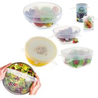 Best Kitchen Food Cover 6pcs or 7pcs or 8pcs Silicone Stretch Lid wholesale
