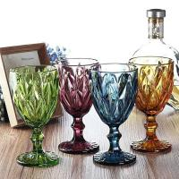 China Wine Cup Dinner Sets Solid Glass Products Drinking For Juice Amber Purple on sale
