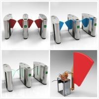 China RFID Turnstiles Flap Gate Barrier , Automatic Optical Turnstile Access Control on sale