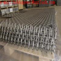 China Woven Screen Mesh/Vibrating Screen Mesh Used in Vibrating Stone Crushers /Plain Weave Galvanized Stainless Steel Crimped on sale