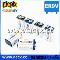 Cheap fire detector battery 9v 1200mAh long self life more than 10 years with high quality for sale
