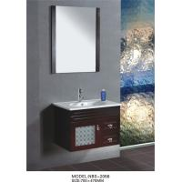 Details of 70x47 / cm light wood bathroom vanity cabinet , Full Extension drawers modern ...
