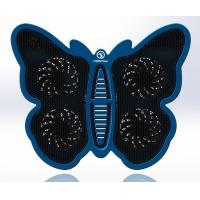 Best Blue Modern 17 inch Notebook Cooler , 4 fan laptop cooler Butterfly Design wholesale