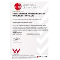 Foshan Shunde Kardier Sanitary Ware Industry Co., Ltd Certifications