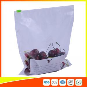 Best Zipper Top Plastic Food Storage Bags With Slider , Airtight Storage Ziplock Bags wholesale