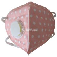 Best Peach Nonwoven Face Mask with White Dots Pattern and Valve wholesale
