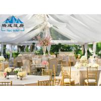 Best 1000 Seater Wedding Event Tents With White PVC Walling 7.2M Ridge Height wholesale