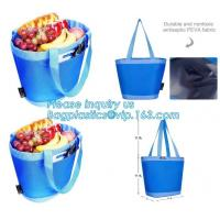 Best promotional 16 cans insulated cooler tote bag outdoor picnic lunch freezable bag for camping beach travel bags, bagplast wholesale