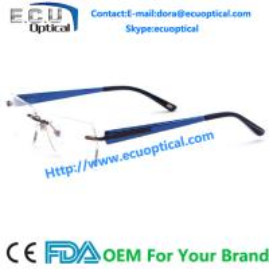Best china handmade acetate optical frames alloy eyeglasses rimless eyewear wholesale