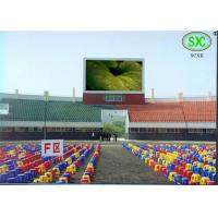Full Color Led Sport Court RGB LED Billboard With Slim Cabinet Customized