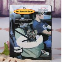 Best Foldable Car Booster Seat Pet Dog Basket Cage Carrier Bag for Buckle Hanging Car Bucket Seat Safety Leash Carrying Strap wholesale
