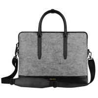 Best Environmental Large Messenger Business Laptop Bags Wool Felt with Leather Handle / Bottom wholesale