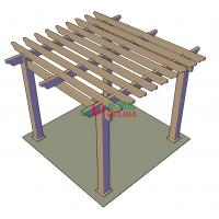Best DIY wood plastic composite pergola Construction for garden / 4mx4mx3m / OLDA-5001B wholesale