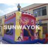 Cheap Customized Princces Inflatable Combo Bouncers Safe 0.55mm PVC wholesale