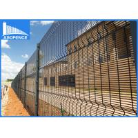 China Green Heavy Clearvu Security Fence , 4mm Welded Wire Mesh Panels Square / H Post on sale