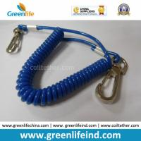 Best Solid Blue Plastic Elastic Spring Belt Coil Bungee Lanyard wholesale