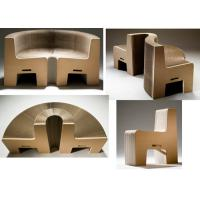 Best Recyclable Corrugated Cardboard Furniture For Exhibition Glossy Lamination wholesale