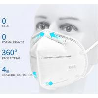 Best Non-woven Fabric KN95 face mask  FFP2 disposable respirator anti dust face mask White 5 layers KN95 Face Mask wholesale