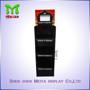 Best 3 - Tiers Black FSDU Cardboard Floor Displays , Corrugated Display Stands With Lcd Screen wholesale