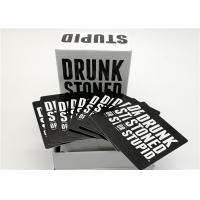 Best Social Party Game Card Drunk Stoned Or Stupid Cards Easy Playing 13*10.3*7.8cm wholesale