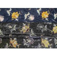 Best Embroidery Sequin Lace Fabric with 3D Elegant Multi Colored Flowers Pattern wholesale