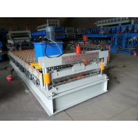Colored Steel Plate Corrugated Roof Sheeting MachineAutomatic Length Cutting