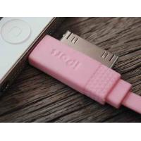 Cheap Pink 2 In 1 Cell Phone USB Cable 100cm , IPhone Micro Usb Charging Data Cable for sale