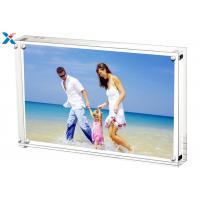 Best 5*7'' Magnetic Acrylic Photo Frame Silk Screen Printing With Single / Double Sided wholesale