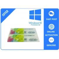 Buy cheap 1703 Version System Data Genuine Windows 10 Pro Oem / Coa Sticker /  Fpp Multilingual Version from wholesalers