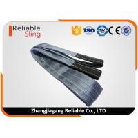 China WLL 4 Ton Gray Furniture Carrying Straps , 100% Polyester Yarn Heavy Lifting Straps on sale
