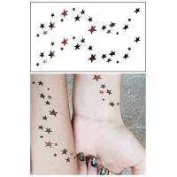 China Flash Metallic Body Art Temporary Tattoos Stickers Waterproof Non Permanent on sale