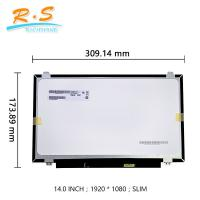 Best TFT FHD IPS Laptop Touch Screen LCD Display 14.0 Inch B140HAK01.0 With Touch Edp Interface wholesale