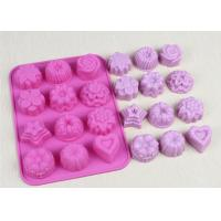 Best Christmas Flexible Silicone Cupcake Mold Non - Stick Durable Pink wholesale