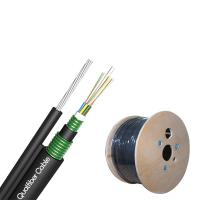 Best Water Blocking Armored Fiber Optic Cable GYTC8S53 Black Color For Aerial wholesale