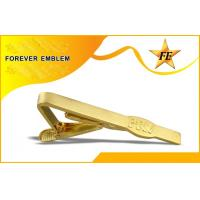 Best Popular Gold Plated Bronze Personalized Tie Bar Clip Without 2D Design wholesale