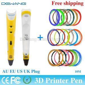 Best Yellow 3D Drawing Pen Doodle With 20 Color 10m ABS Filament AU /EU/ wholesale