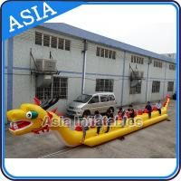 Quality Yellow Dragon Banana Shaped Inflatable Boats 12 Person Water Sport Games For Adult wholesale