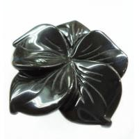Cheap Oem White / Black / Brown / Green Flower Gemstone Carving  Decorative Jewelry Making for sale