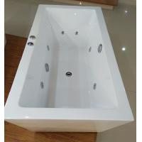 Cheap 1600mm Indoor Contemporary White Soaking Freestanding Bath Tub / Indoor Jacuzzi Hot Tubs for sale