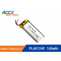 Best 601240 pl601240 3.7v 160mah lithium polymer rechargeable battery for talking pen, recording pen, wearable product wholesale